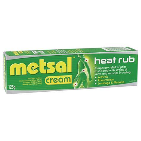 metsal heat rub cream  amcal