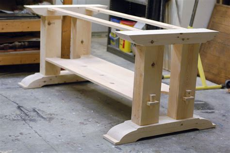 trestle table woodworking plans trestle table base fcf furniture trestle