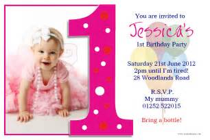 1st birthday invitation card free personalised 1st birthday photo