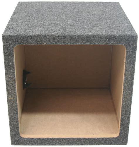 boxes square single  subwoofer unloaded enclosure