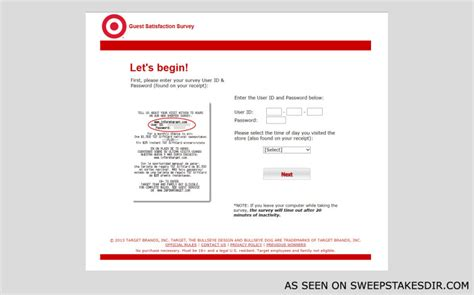 Www Target Com Survey Gift Card - informtarget com target guest survey online instant win sweepstakes sweepstakes