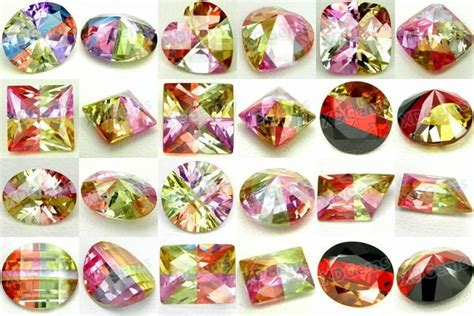 multi color cubic zirconia gemstone buy wuzhou