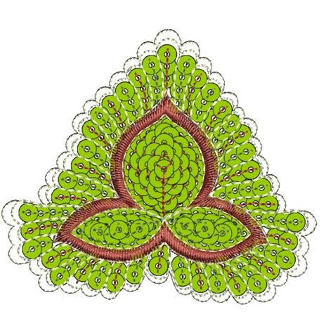 design flower nice sequein nice applique flower embroidery designs