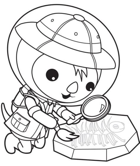 Gup S Coloring Page by Octonauts Submarine Coloring Sheet Coloring Pages
