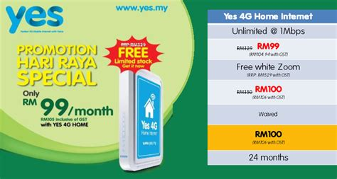 Wifi Unlimited Quota yes raya promotion with quota up to 16gb