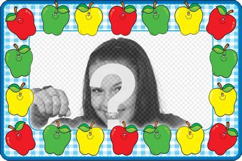 cornici foto gratis italiano in linea cornice con mele colorate per decorare la vostra