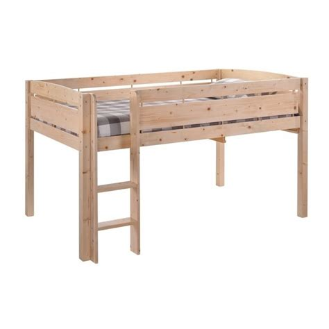 Canwood Whistler Junior Wood Loft Bunk Bed In Natural 2131 5
