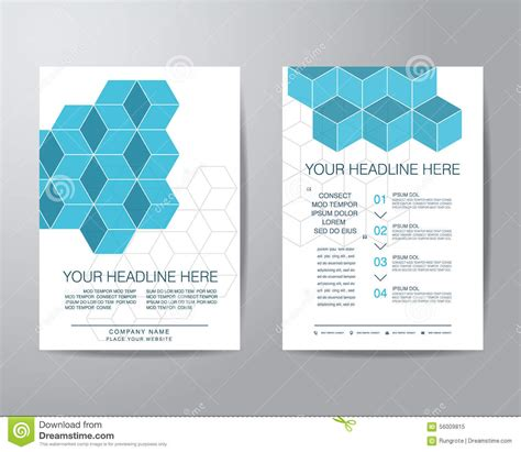 simple brochure template simple box brochure flyer design layout template in a4