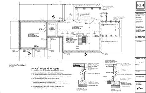 foundation floor plan foundation plans residential design inc