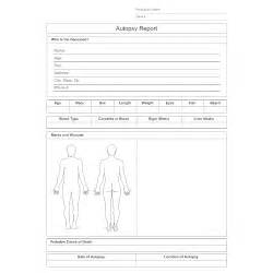 coroner s report template autopsy report