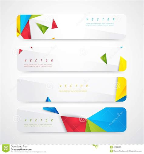 free header templates flyer template header design stock vector image 49780482