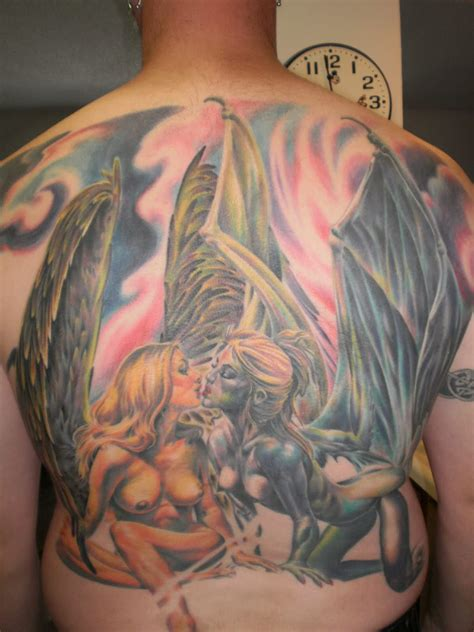 angel devil tattoo my designs tattoos