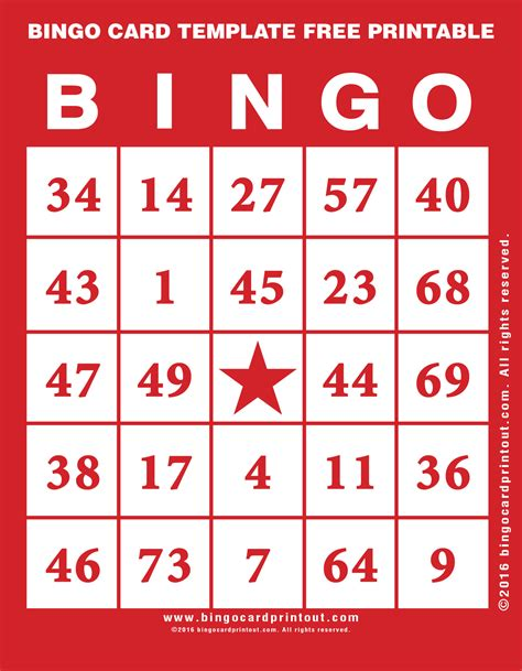 bingo card template free bingo card template free printable bingocardprintout