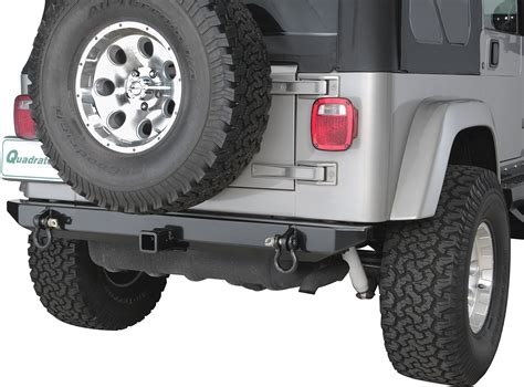 jeep yj rear bumper hyline offroad 250200100 standard rear bumper with 2