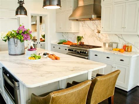 White Marble Kitchen Island Quartz The New Countertop Contender Hgtv