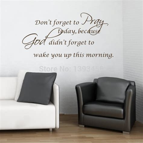 Sentences About A Bedroom In Wall Quotes And Saying Pray God Today Wall Stickers