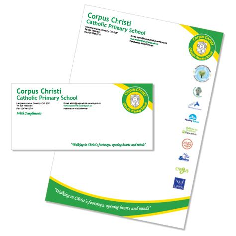 Letterhead Of College printed school stationery