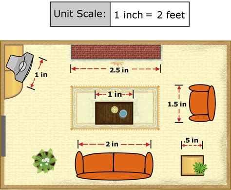 draw a room to scale online unknown measures of similar figures ck 12 foundation