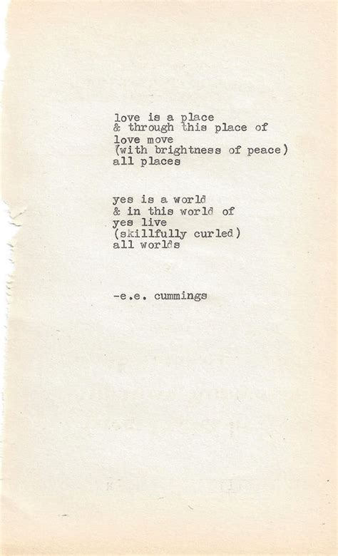 A Place Poem Soft Typewritten Poem By E E Me Me Peace Design And Thanks