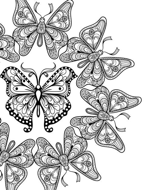 printable coloring pages adults free 23 free printable insect animal coloring pages