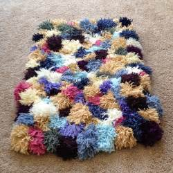 the crafty novice diy yarn rug