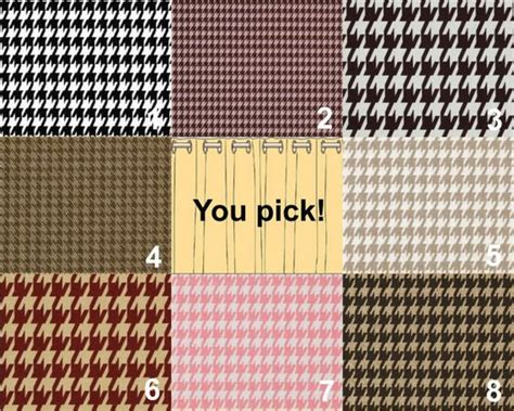 houndstooth drapes pair of curtain panels 25 x 84 houndstooth by