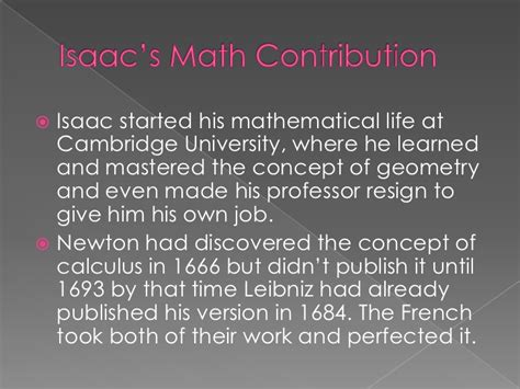biography of isaac newton and his contribution isaac newton