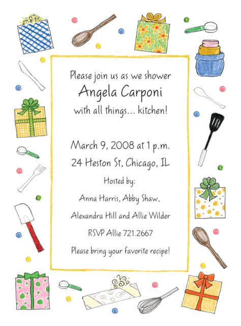 Kitchen Invitation Cards Sles by Kitchen Invitations By Adele