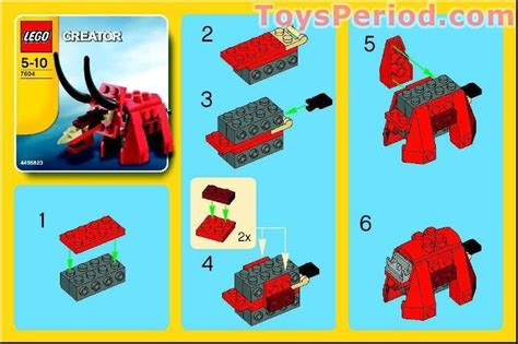 printable lego animal instructions dinosaur free instruction page 1 my kids birthday ideas
