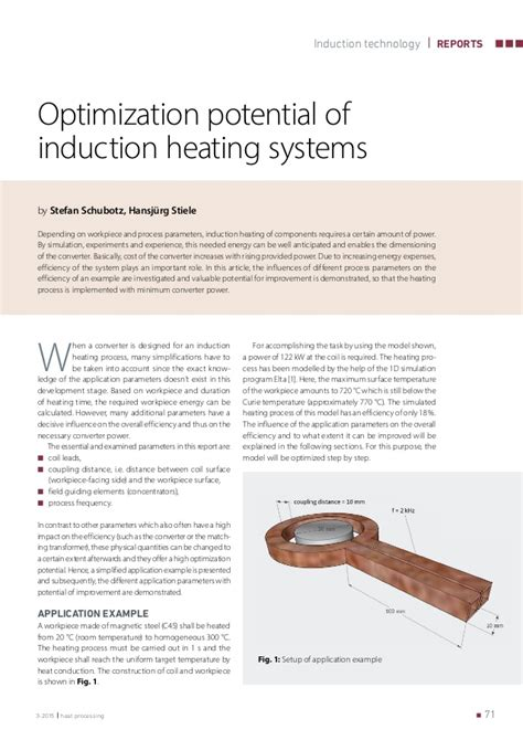 induction heating basics optimization potential of induction heating systems by stefan schubot