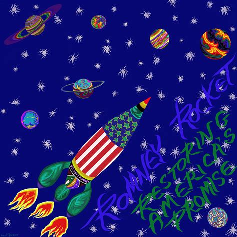 the way back restoring the promise of america books romney rocket restoring america s promise painting by