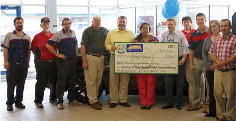 sunbelt ford lincoln of americus sunbelt ford makes generous donation o southland