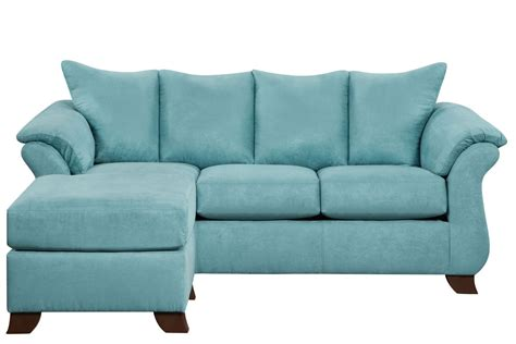 Couch Ottoman | taffy microfiber sofa with floating ottoman at gardner white