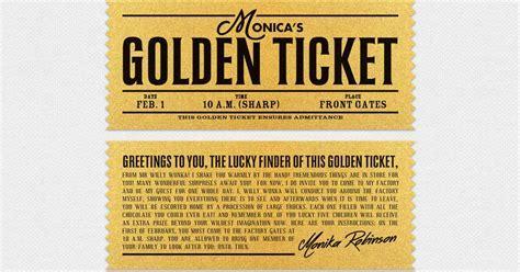 Willy Wonka Golden Ticket Kids Birthday   Personalized