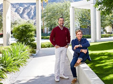designer michael smith at home in palm springs with ambassador james costos and