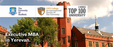 Sheffield Mba Cost by The Of Sheffield Executive Mba In Yerevan