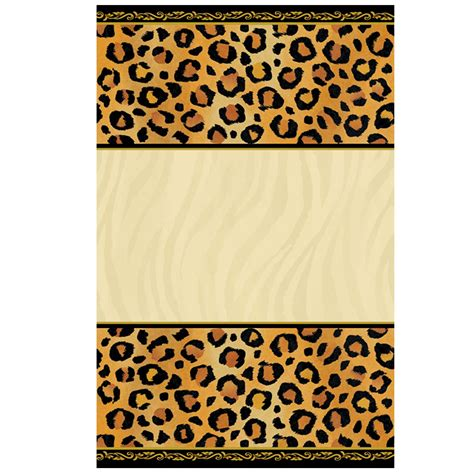 leopard print invitations templates free printable cheetah invitation orderecigsjuice info