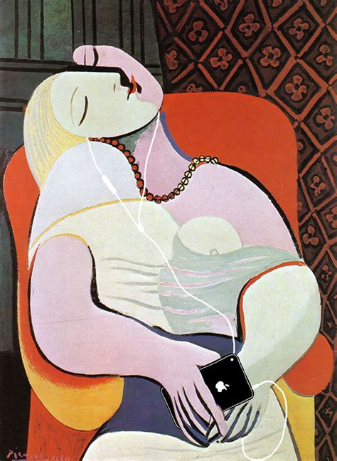 picasso paintings le reve paintings updated with 21st century gadgets bored