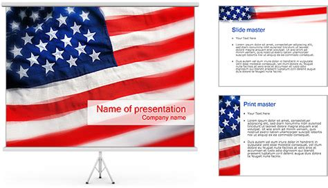 American Flag Powerpoint Template Backgrounds Id American Flag Powerpoint Template