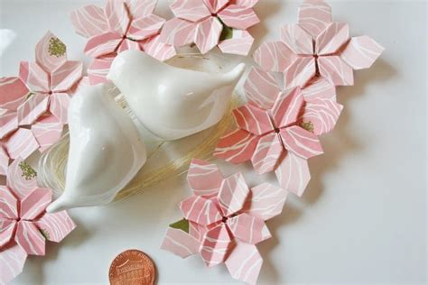 Origami Flower Decorations - origami wedding ideas and inspiration