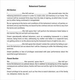 behavior contract template behaviour contract 19 free documents in pdf doc