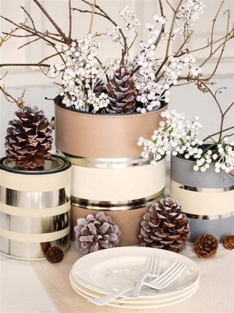 winter decorations winter table ideas more how to festive christmas table decoration ideas and tutorials 2017