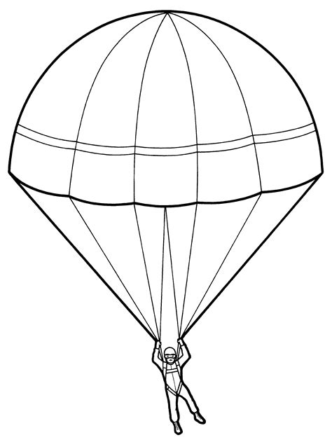 parachute line drawing