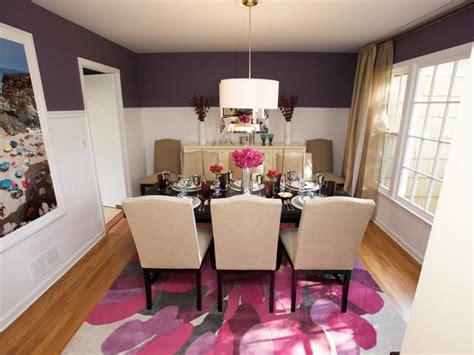purple dining rooms purple dining room hgtv