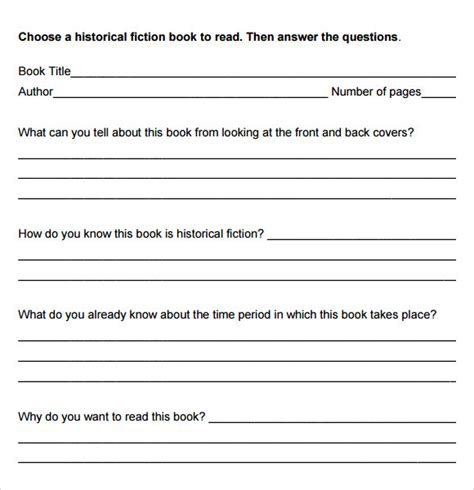 novel notes template 5 book summary sles sle templates