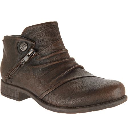 earth ankle boots earth leather ruched ankle boots ronan page 1 qvc