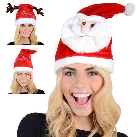 animated singing santa hat animated musical singing moving novelty santa hat ebay
