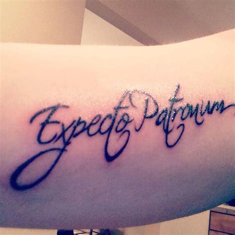 expecto patronum tattoo expecto patronum inner arm harry potter tattoos