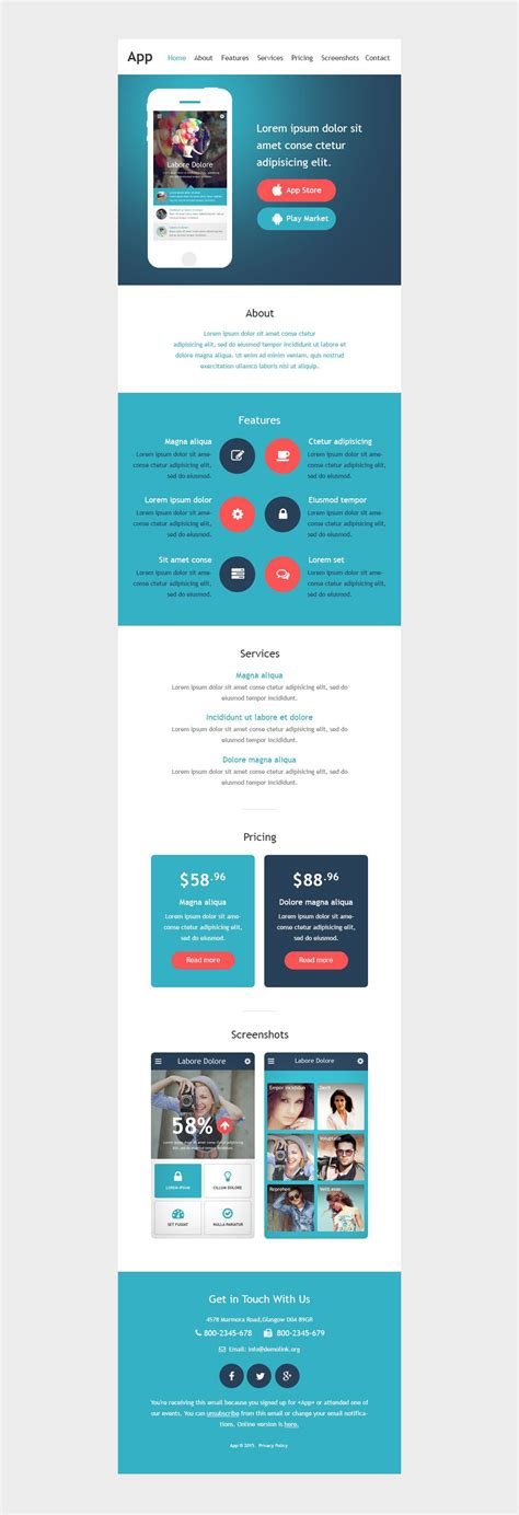 responsive newsletter templates web development responsive newsletter template 53026