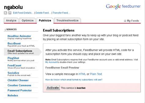 membuat rss blog cara membuat rss feed blog di feedburner endolita